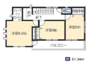 新久田 2F 室内図面