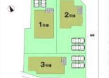 下山町 全3棟 区画図
